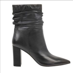 Marc Fisher Unana Booties in Black Leather